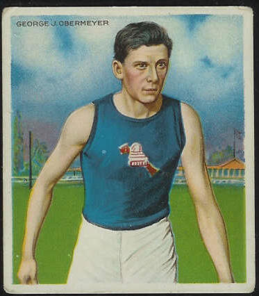 1910 T218 Mecca TRACK - George Obermeyer Baseball cards value