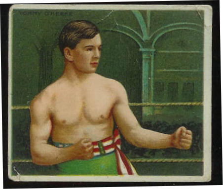 1910 T218 Mecca BOXING - Tommy O'Keefe Baseball cards value