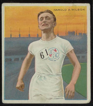 1910 T218 Mecca TRACK - Harold Wilson Baseball cards value