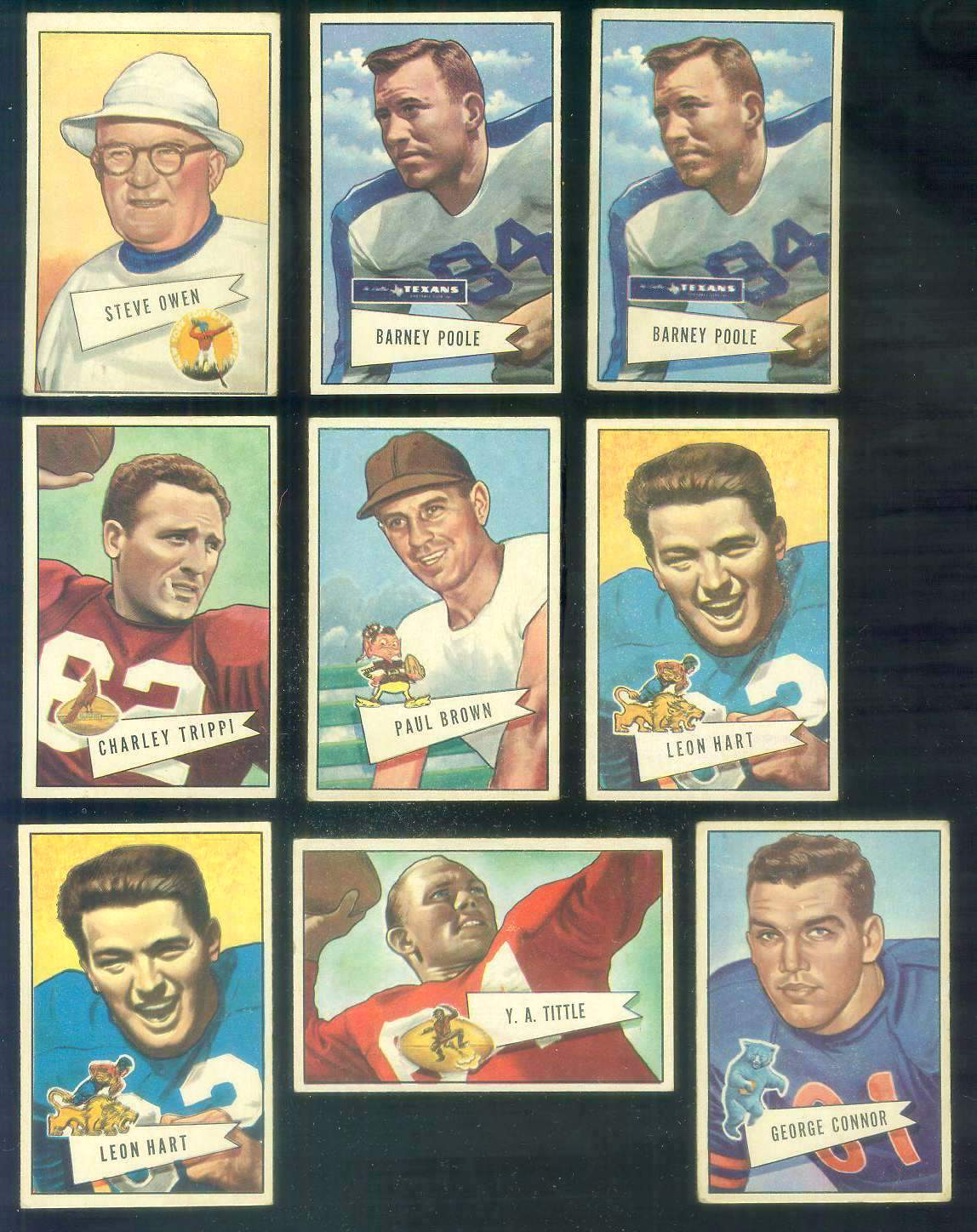 1952 Bowman Small FB #..4 Steve Owen ROOKIE COACH (HALL-of-FAME,NY Giants) Football cards value