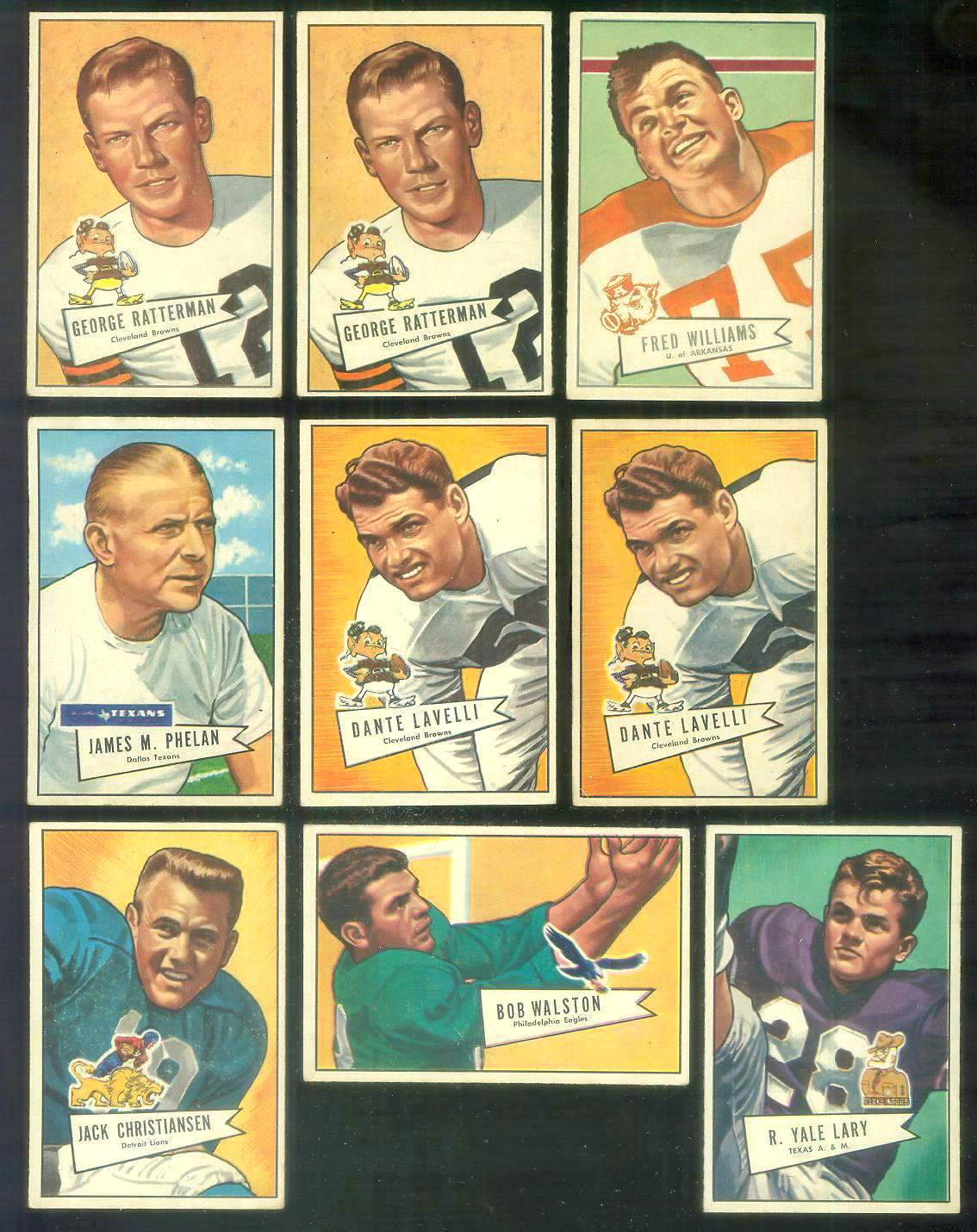 1952 Bowman Small FB #129 Jack Christiansen ROOKIE (Lions) Football cards value