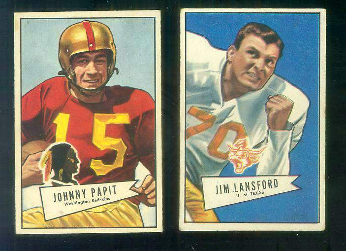1952 Bowman Small FB #144 Jim Lansford ROOKIE (Dallas Texans) Football cards value