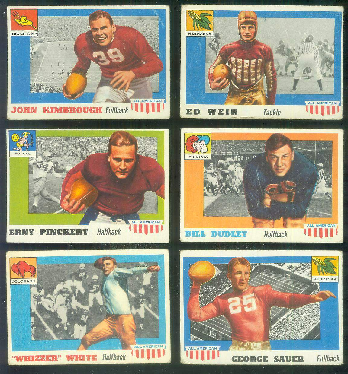 1955 Topps ALL-AMERICAN FB #.10 Bill Dudley Football cards value