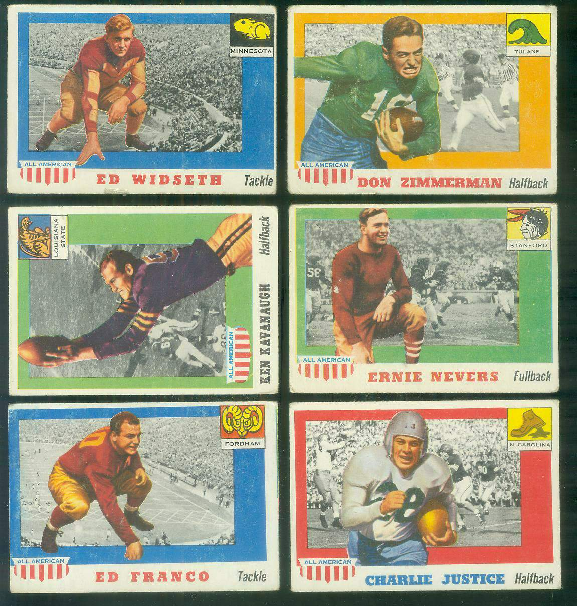 1955 Topps ALL-AMERICAN FB #.50 Ken Kavanaugh Football cards value