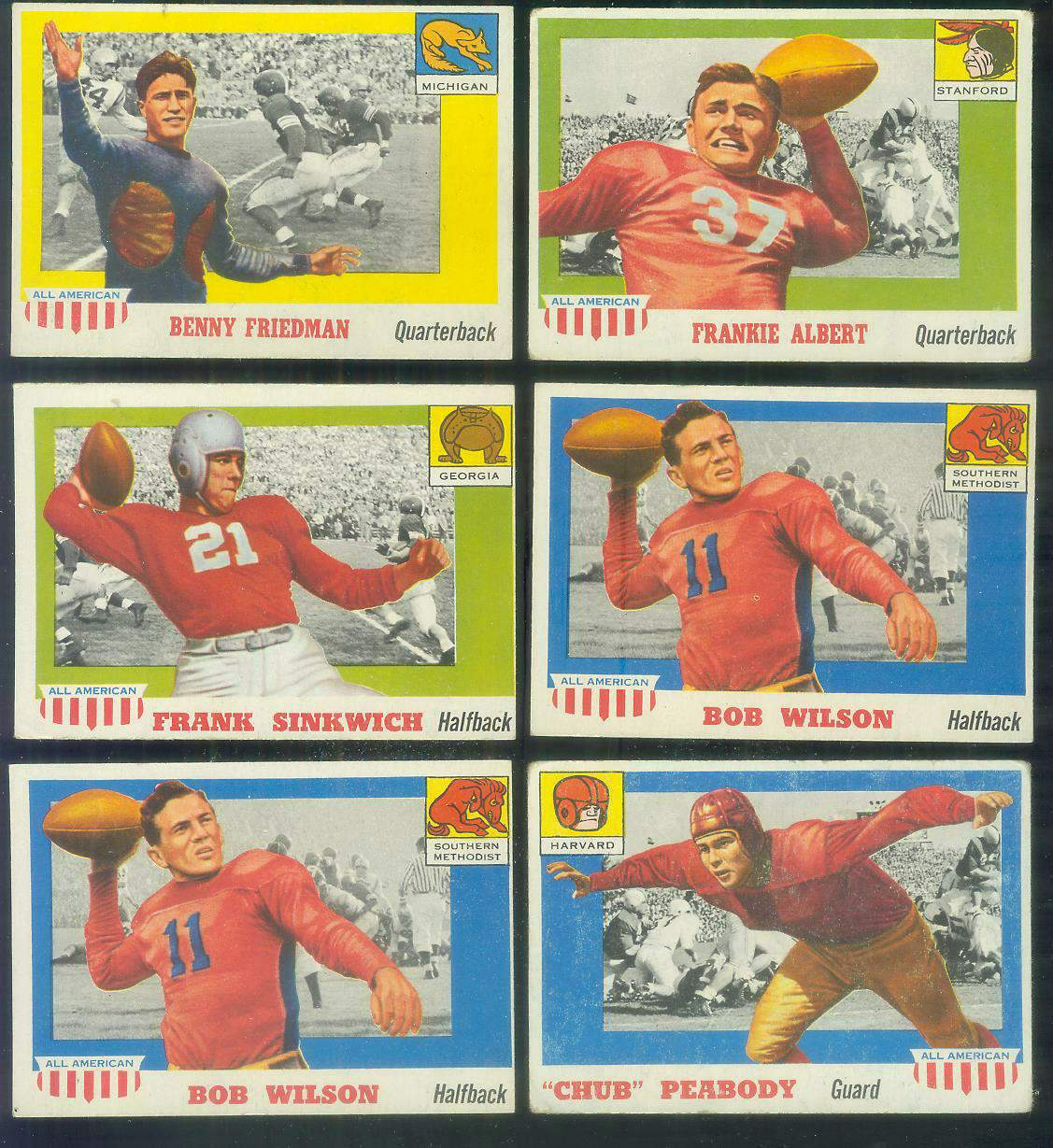 1955 Topps ALL-AMERICAN FB #.71 Bobby Wilson (Southern Methodist) Football cards value
