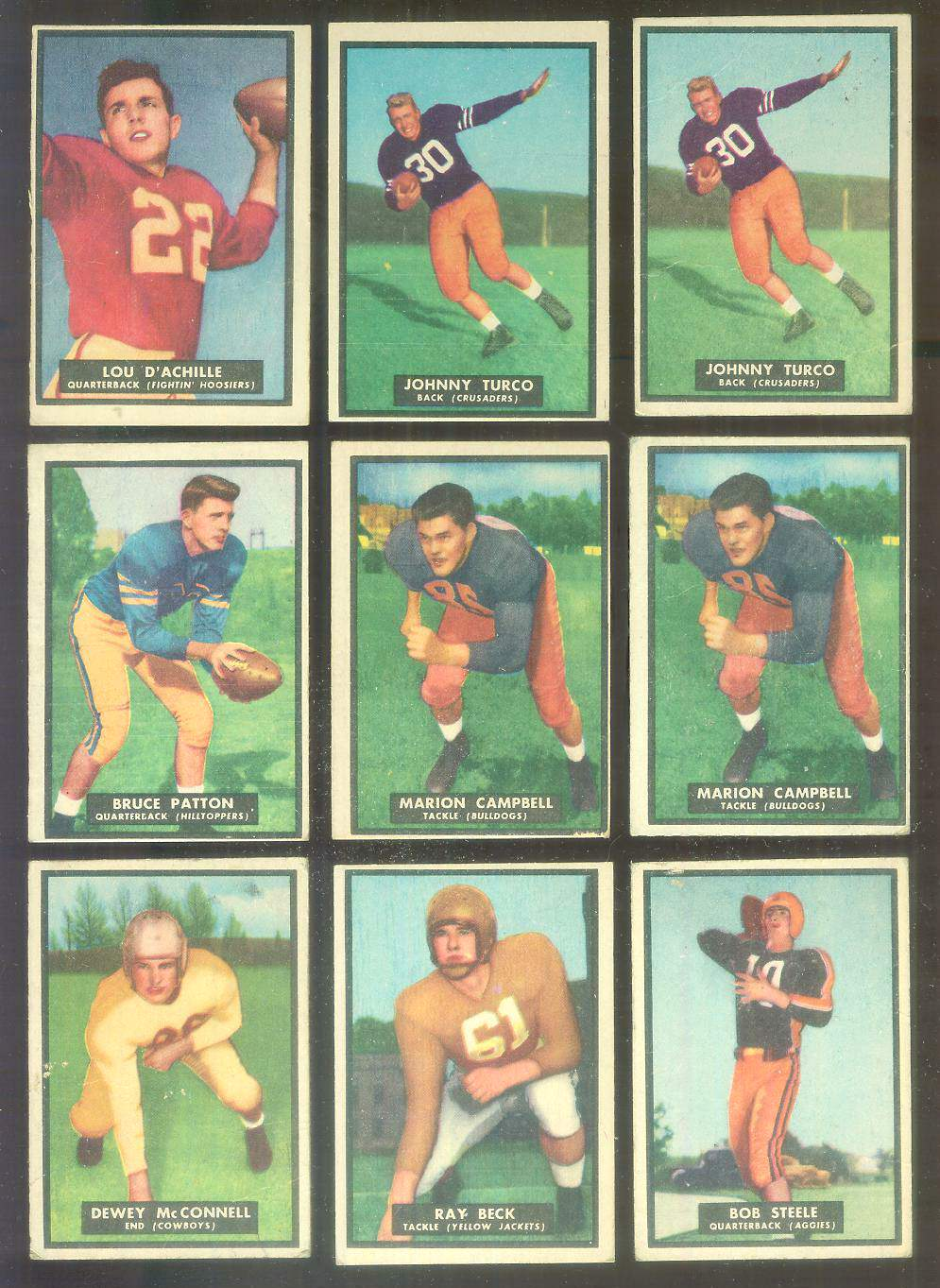 1951 Topps Magic FB #15 Johnny Turco Football cards value