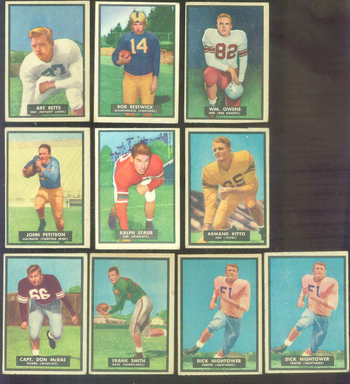 1951 Topps Magic FB #39 Ralph Staub Football cards value