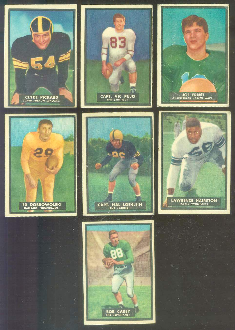1951 Topps Magic FB #52 Clyde Pickard Football cards value
