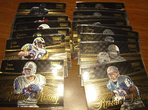 1997 Zenith FOOTBALL - 'ROOKIE RISING' Complete 24-card INSERT SET Baseball cards value