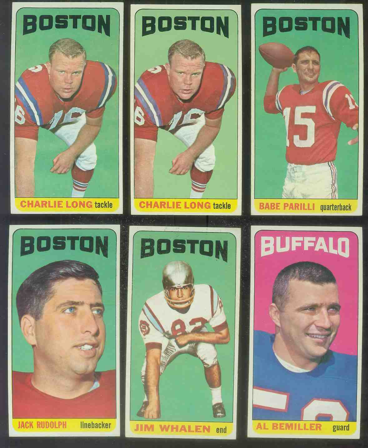 1965 Topps FB #.19 Jack Rudolph (Boston Patriots) Football cards value