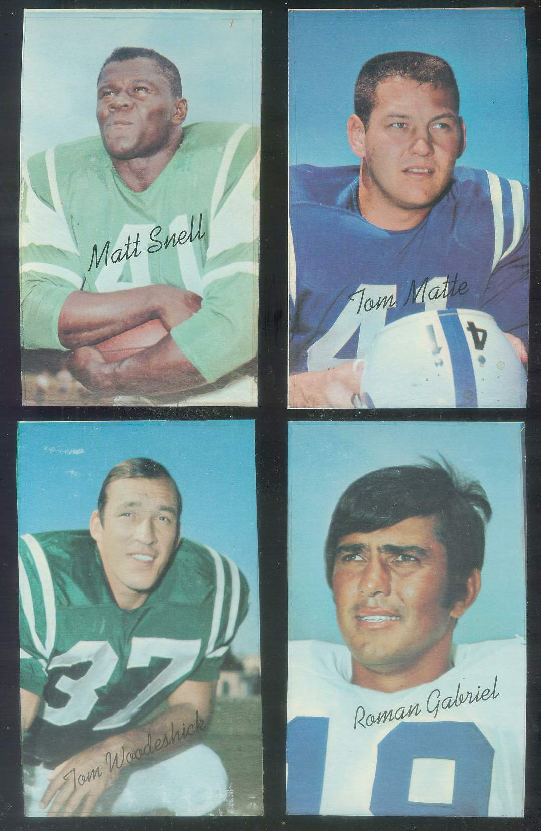 1970 Topps Supers PROOF FB #25 Roman Gabriel (Rams) Football cards value