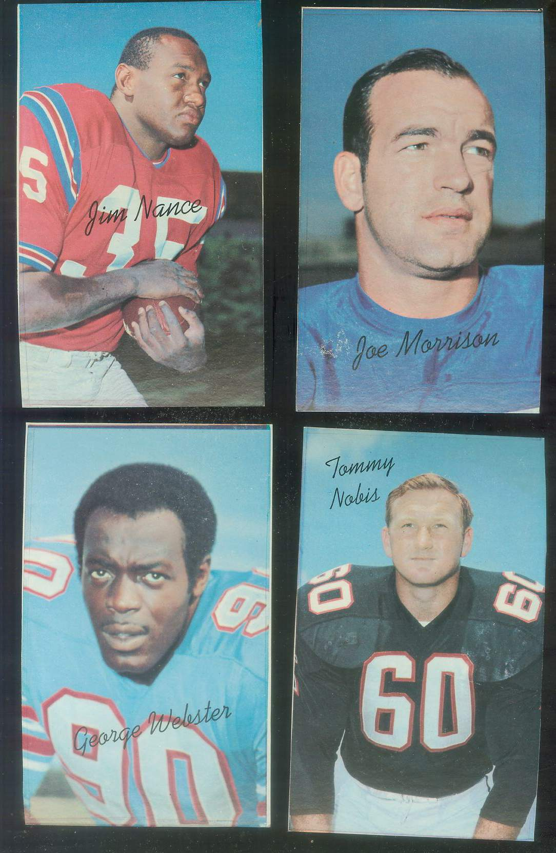 1970 Topps Supers PROOF FB #34 George Webster SHORT PRINT (Oilers) Football cards value