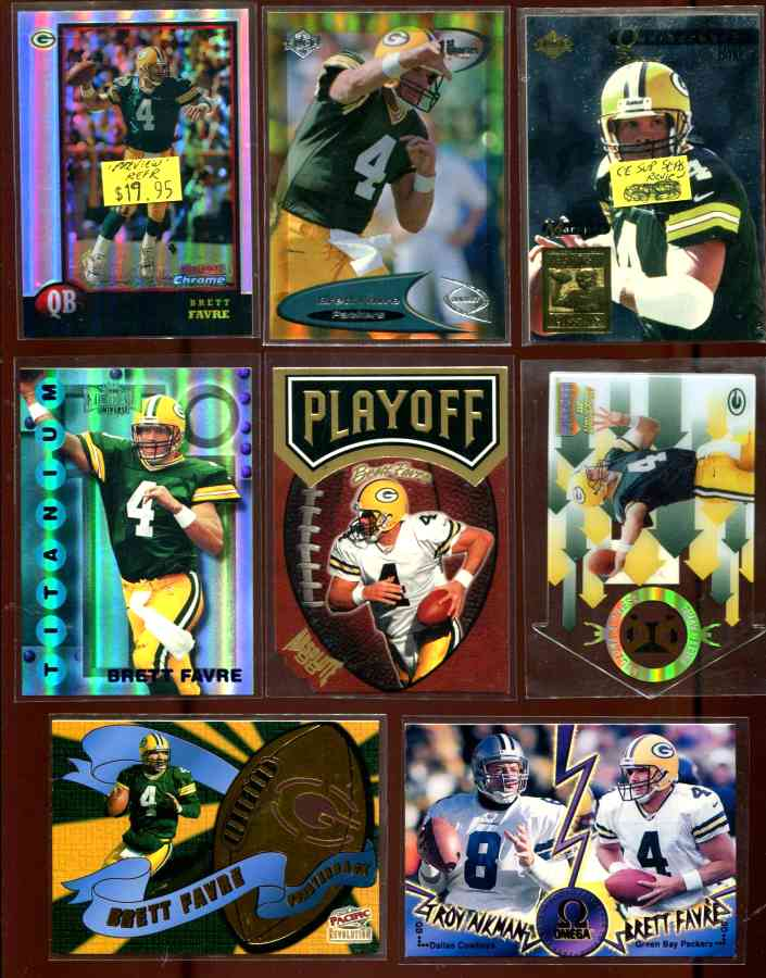 1998 Playoff Absolute Shields DIE-CUT #4 Brett Favre Baseball cards value