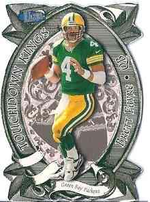 Verzamelingen 1998 Playoff Contenders Leather Footballs Silver #31 Brett Favre Football Card