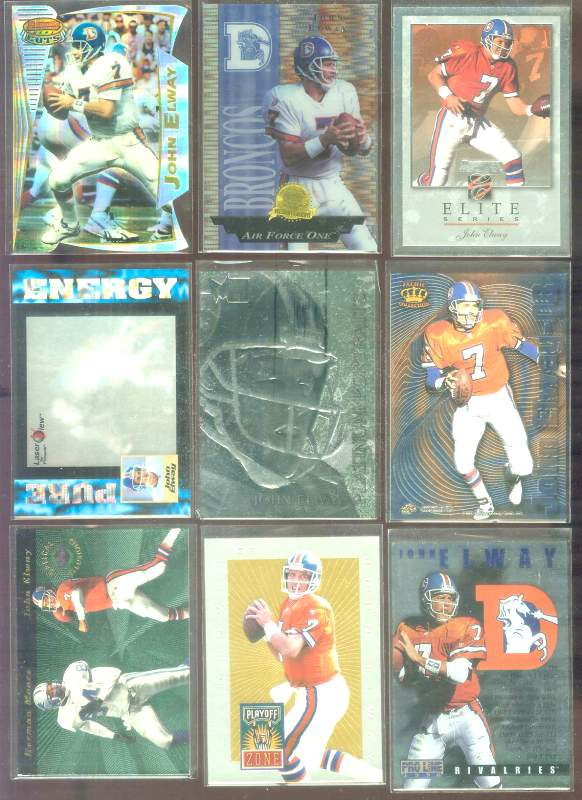 1996 Playoff Trophy Contenders 'Playoff Zone' #3 John Elway Football cards value