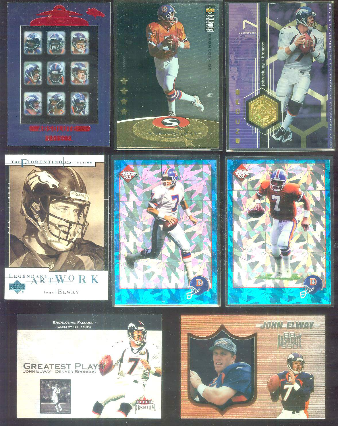 1997 Collector's Choice Star Quest SQ83 John Elway Football cards value