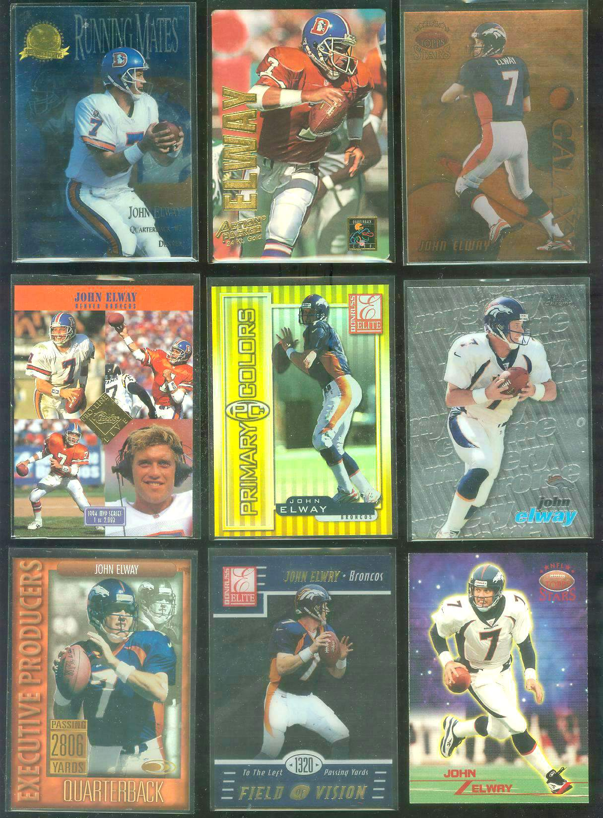 1994 Pro Line Live 'MVP Sweepstakes' #8 John Elway Football cards value