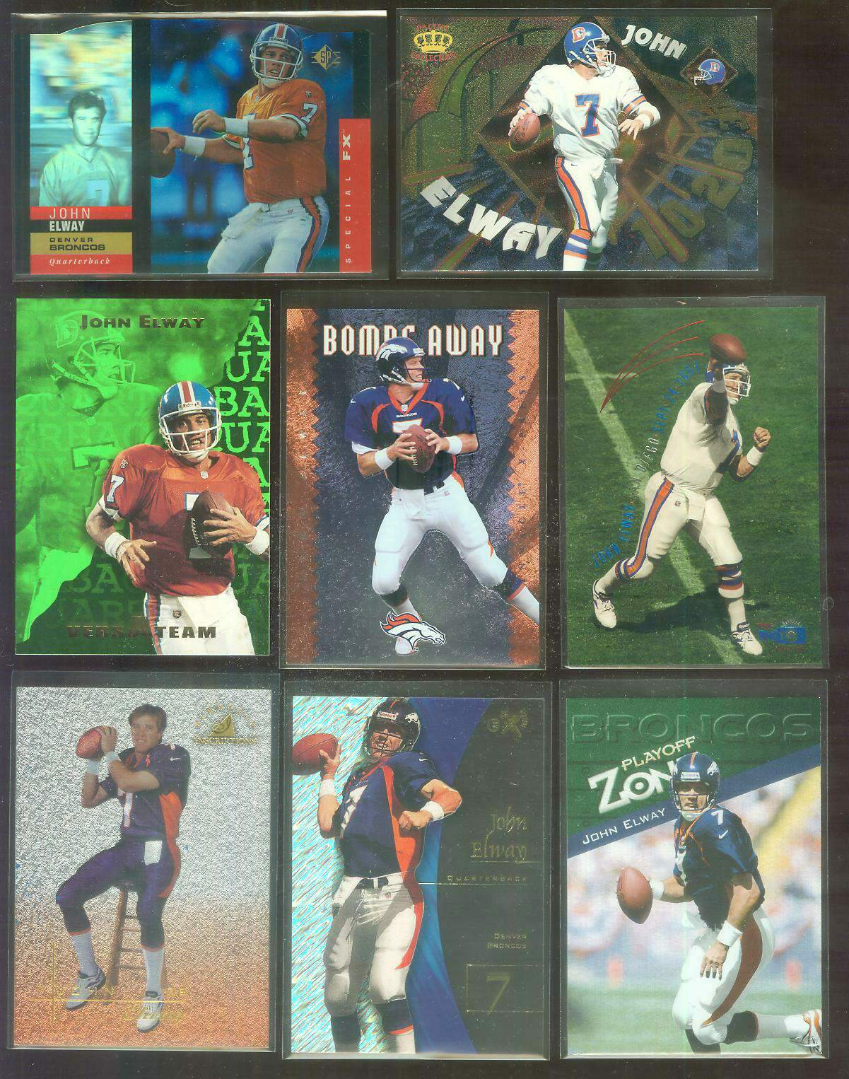 1997 Pinnacle Inscriptions #7 John Elway CHALLENGE COLLECTION Football cards value