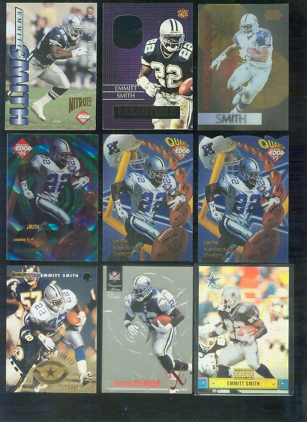 1996 Classic NFL Experience 'X' #X10 Emmitt Smith Football cards value