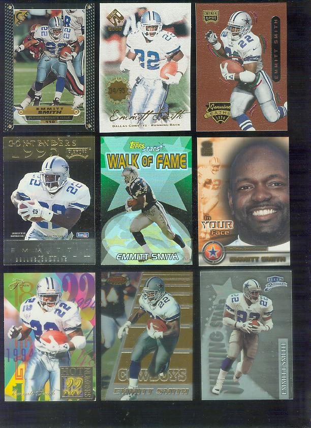 1997 Topps Gallery Player's PRIVATE ISSUE #110 Emmitt Smith Football cards value