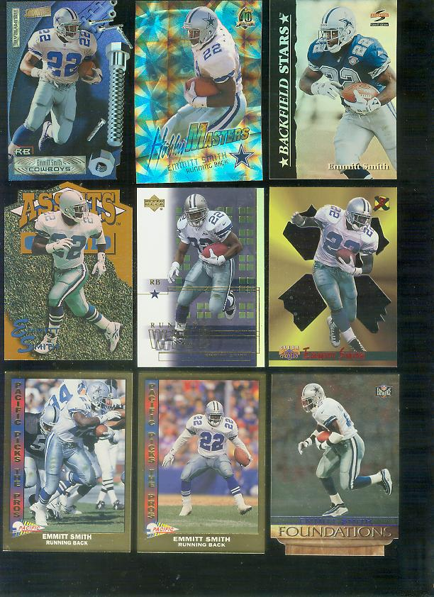 1996 Clear Assets '3X' #X5 Emmitt Smith Baseball cards value