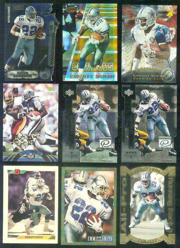 1992 Bowman #100 Emmitt Smith Football cards value