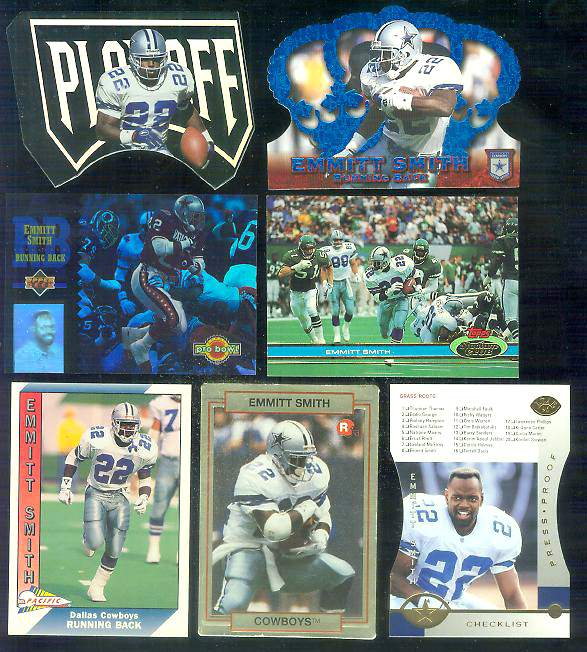 1996 Crown Royale BLUE #144 Emmitt Smith Football cards value