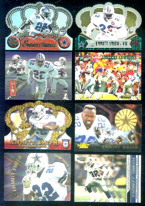 1994 Fleer 'Scoring Machines' #18 Emmitt Smith Football cards value