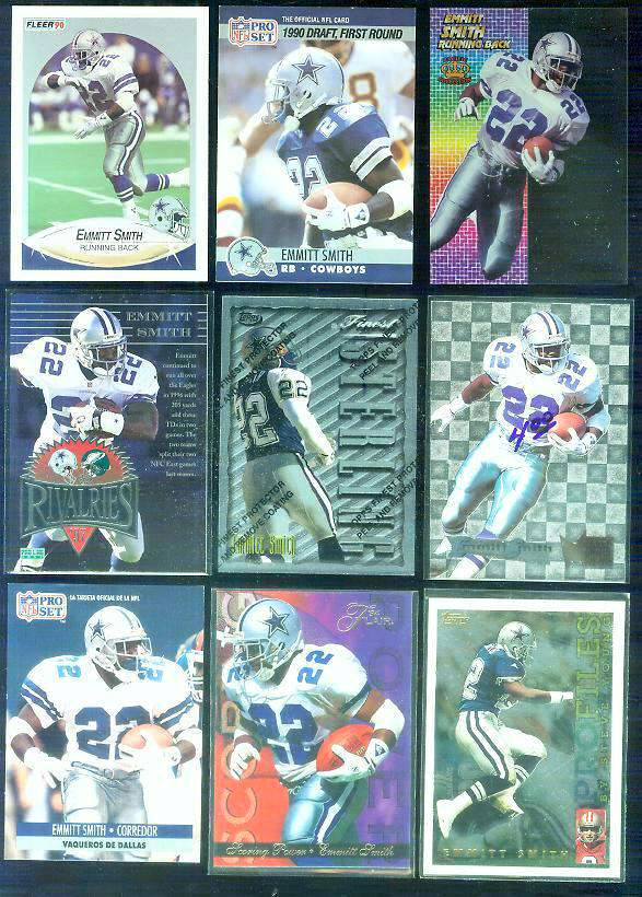 1994 Pacific 'Crystalline' #1 Emmitt Smith Football cards value