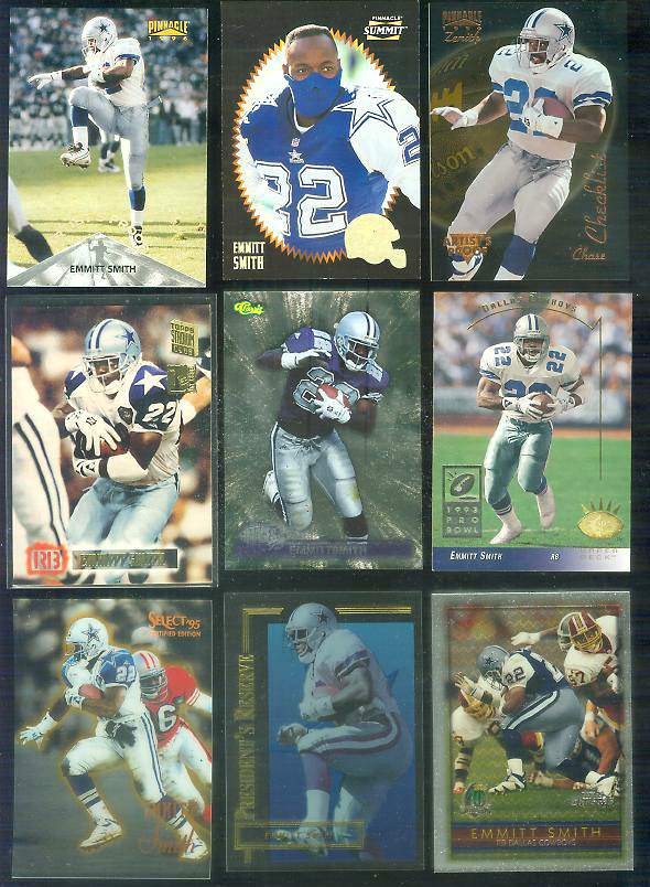 1996 Summit ARTIST,s PROOFs #16 Emmitt Smith Football cards value
