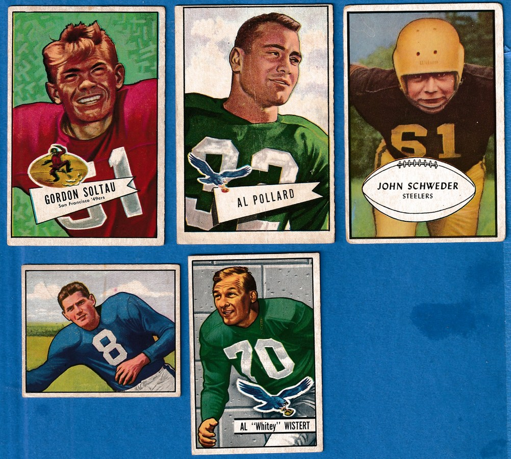 1953 Bowman FB #41 John Schweder SHORT PRINT (Steelers) Football cards value