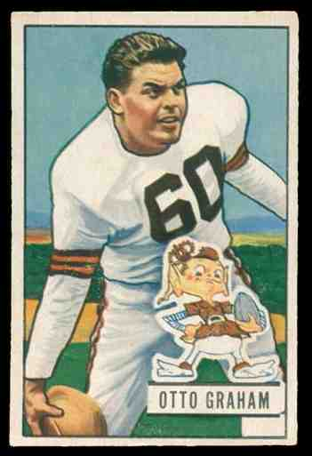 1951 Bowman FB #..2 Otto Graham Football cards value