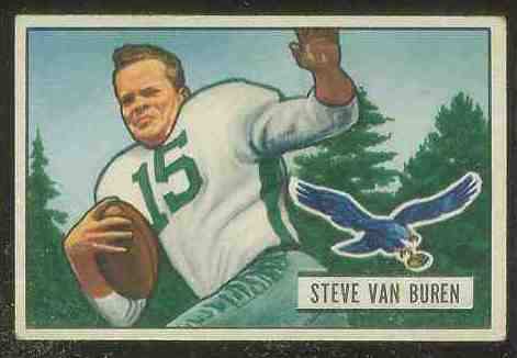 1951 Bowman FB #.10 Steve Van Buren Football cards value