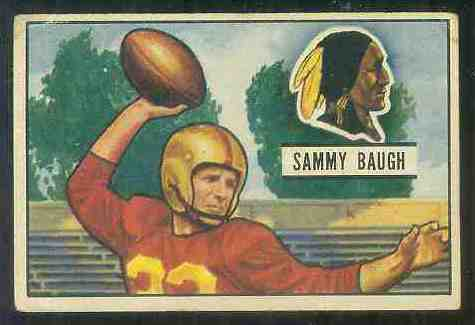1951 Bowman FB #.34 Sammy Baugh Football cards value