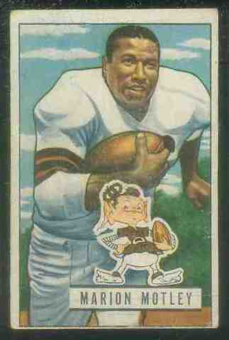 1951 Bowman FB #109 Marion Motley Football cards value