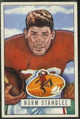 1951 Bowman FB #141 Norm Standlee (49ers) Football cards value