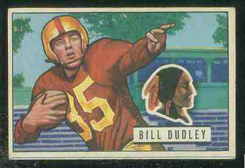 1951 Bowman FB #144 Bill Dudley [#x] Football cards value