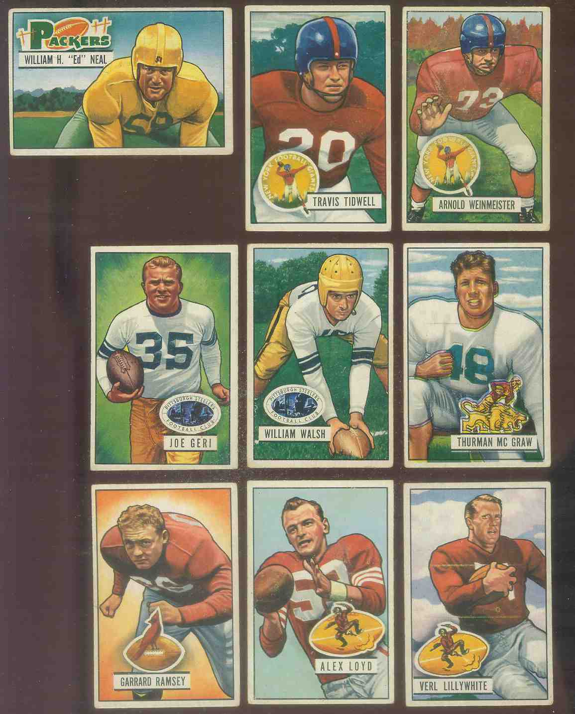 1951 Bowman FB #.22 Joe Geri Football cards value