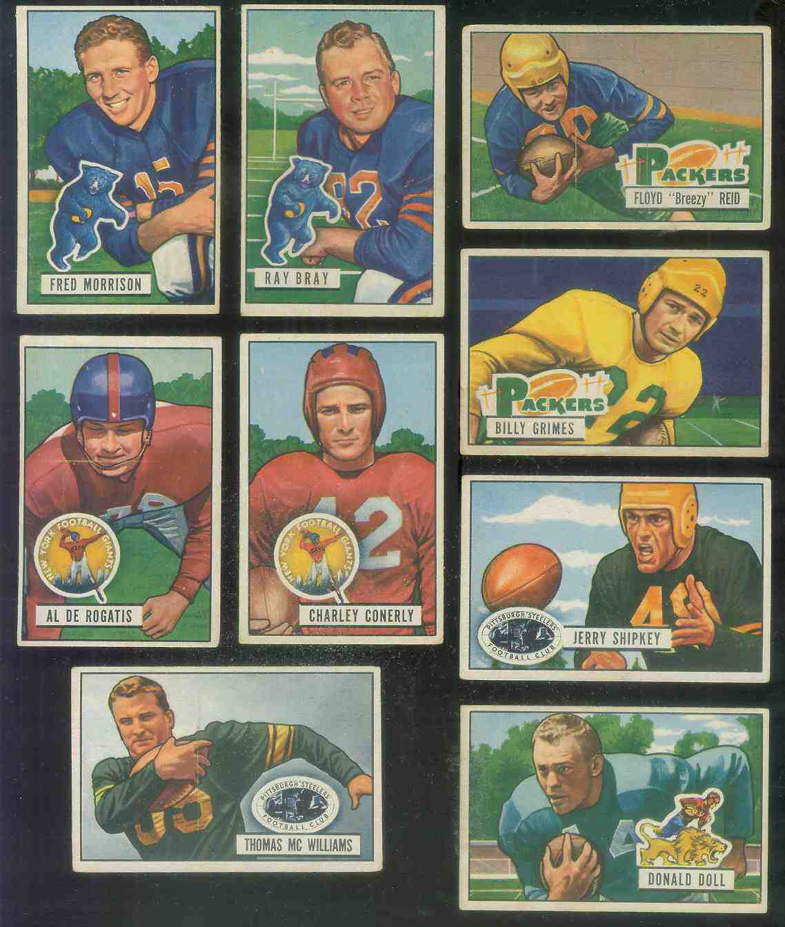 1951 Bowman FB #.59 Jerry Shipkey [#x] Football cards value