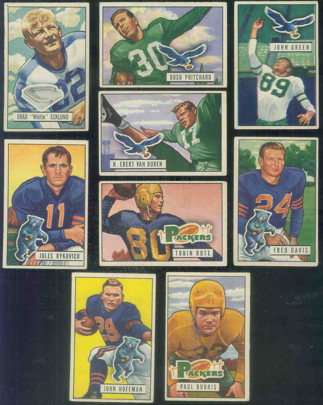 1951 Bowman FB #.85 Julie Rykovich [#x] Football cards value
