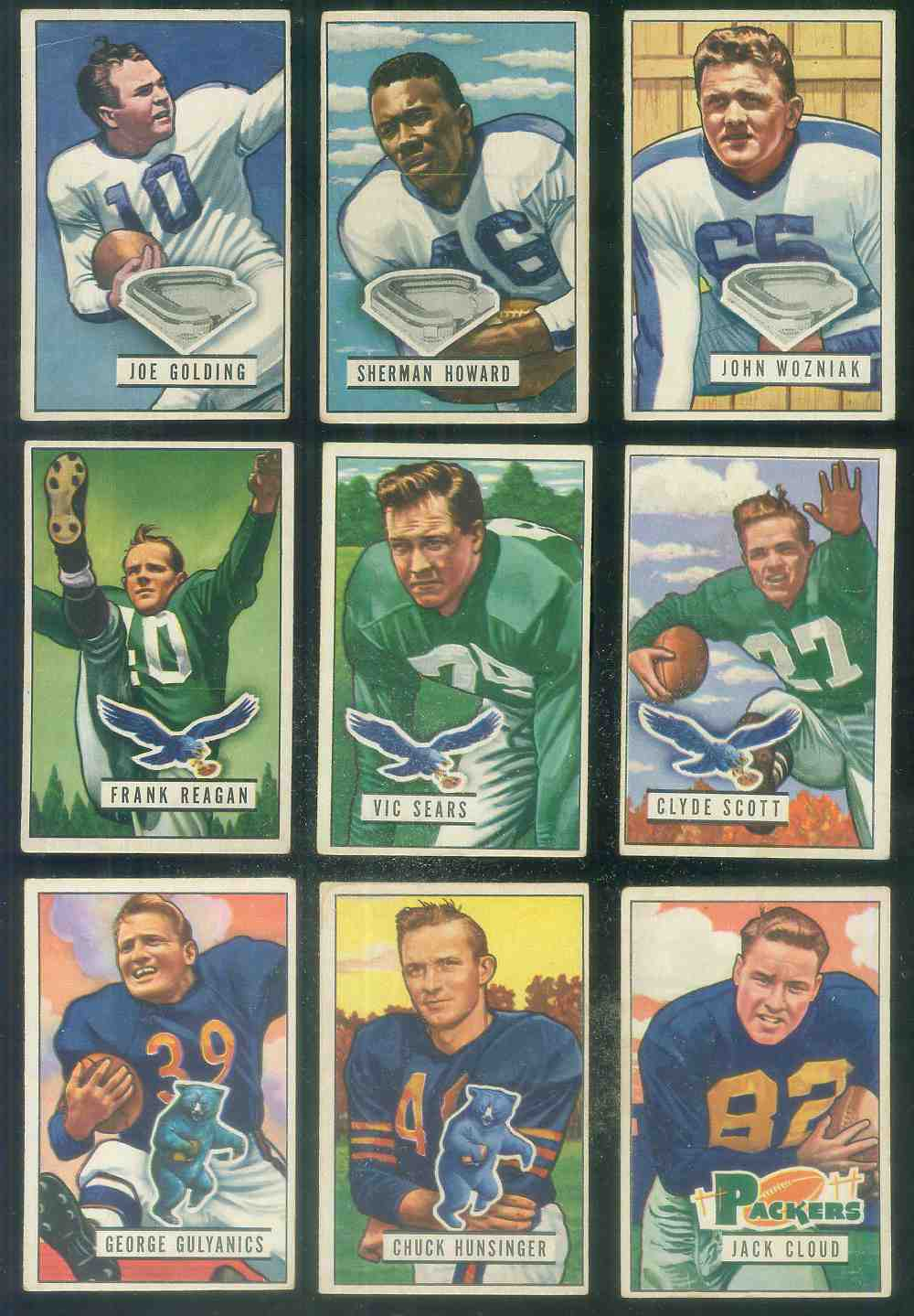 1951 Bowman FB #118 Frank Reagan [#x] Football cards value