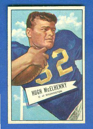 1952 Bowman Small FB #.29 Hugh McElhenny ROOKIE (Redskins) Football cards value