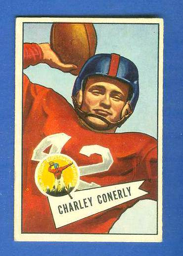 1952 Bowman Small FB #.63 Charley Conerly (New York Giants) Football cards value