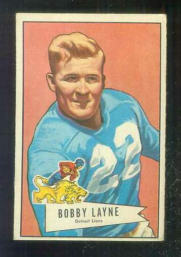 1952 Bowman Small FB #.78 Bobby Layne [#a] (Lions) Football cards value