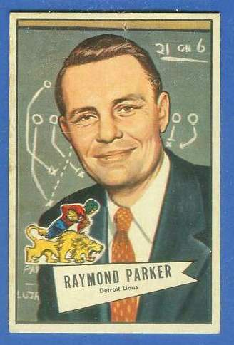 1952 Bowman Small FB #.84 Raymond 'Buddy' Parker ROOKIE COACH (Lions) Football cards value