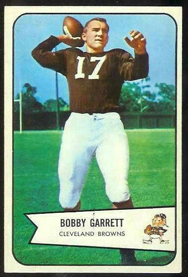 1954 Bowman FB #.16 Bobby Garrett (Browns) Football cards value