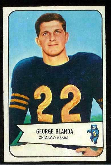1954 Bowman FB #.23 George Blanda (Bears) Football cards value