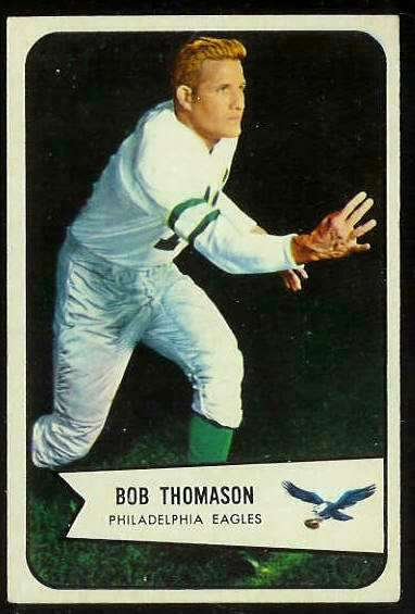 1954 Bowman FB #.45 Bob Thomason (Eagles) Football cards value