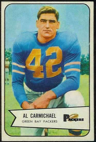 1954 Bowman FB #115 Al Carmichael [#b] (Packers) Football cards value