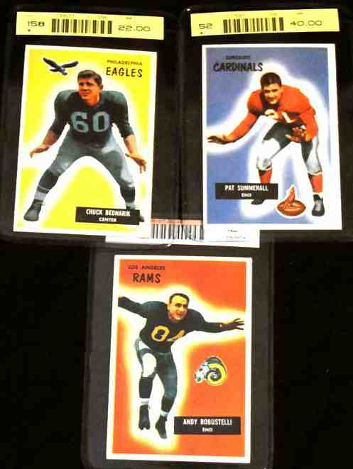 1955 Bowman FB #121 Andy Robustelli (Rams) Football cards value